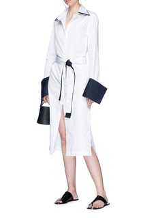 ANNA QUAN 'Cecily' detachable cuff double belted shirt dress