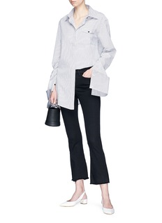 ANNA QUAN Accent可拆式袖口条纹府绸衬衫