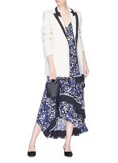 Blazé Milano 'Resolute' contrast lapel wool everyday blazer