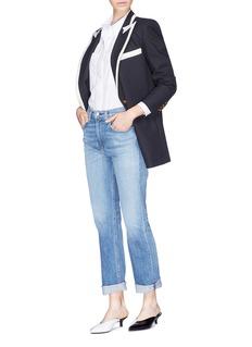 Blazé Milano 'Essex' contrast lapel wool everyday blazer