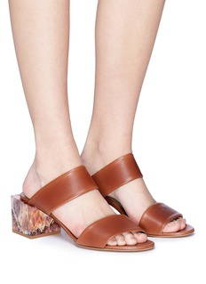 Gray Matters 'Marmo' marble block heel leather sandals