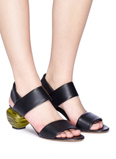 Gray Matters 'Marmo' sculptural heel slingback leather sandals