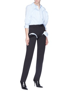Y/Project Cutout thigh wool suiting pants