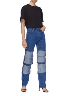 Y/Project Triple cuff layered jeans