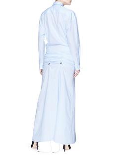 Y/Project Ruched waist cotton-linen shirt dress