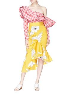 Johanna Ortiz 'Lychee Floral' print asymmetric ruffle skirt