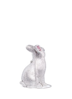 Judith Leiber 'Bunny Ava' crystal pavé minaudière
