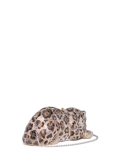 Judith Leiber 'Wildcat Jaguar' crystal pavé minaudière