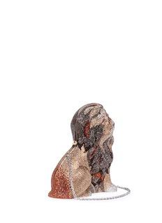 Judith Leiber 'Lion' crystal pavé minaudière