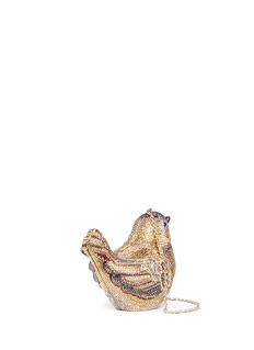 Judith Leiber 'Golden Finch Bird' crystal pavé minaudière
