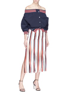 Monse Fringe stripe silk skirt