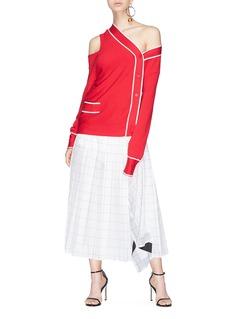 Monse Twisted cutout shoulder cardigan