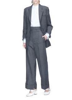TOGA ARCHIVES Stripe wool wide leg pants