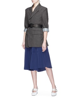 TOGA ARCHIVES Plissé pleated taffeta skirt
