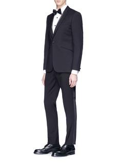 Topman Slim fit herringbone tuxedo soft blazer