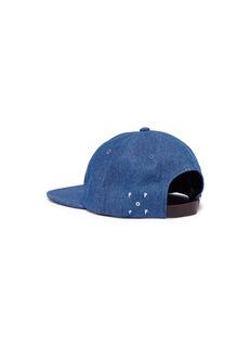Pop Trading Company 'Pop O' appliqué denim baseball cap