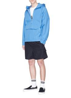 Pop Trading Company 'Pop DRS' half zip poplin hoodie