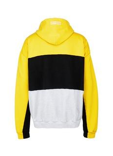 Vetements 'DHL Umbro' logo print patchwork unisex hoodie