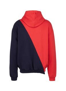 Vetements 'Tommy Hilfiger' logo print patchwork unisex hoodie