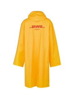 Vetements 'DHL' logo print unisex raincoat