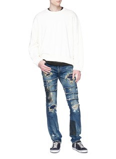 NOVE Rip-and-repair skinny jeans