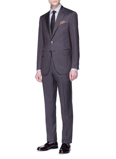 ISAIA 'Gregory' wool-silk herringbone suit