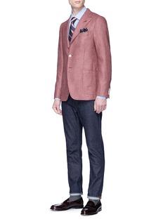 ISAIA 'Gregory' silk jacquard blazer