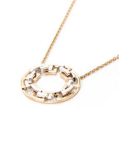 Mellerio 'Graphic' 18k gold interlocking hoop pendant necklace