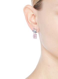 Anabela Chan 'Lily' diamond 18k white gold vermeil drop earrings