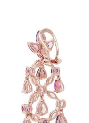 Detail View - Click To Enlarge - Anabela Chan - Diamond gemstone 18k gold vermeil chandelier earrings