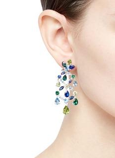 Anabela Chan Gemstone 18k white gold vermeil chandelier earrings