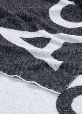 Detail View - Click To Enlarge - Acne Studios - 'Toronty' logo jacquard wool blend scarf