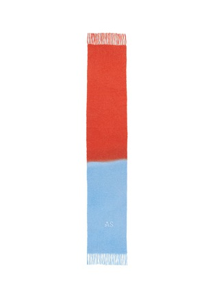 Main View - Click To Enlarge - Acne Studios - 'Kelow' logo embroidered colourblock scarf