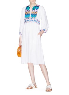 Figue 'Violeta' graphic embroidered dress