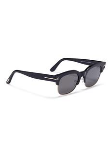 TOM FORD 'Harry' metal rim acetate square sunglasses