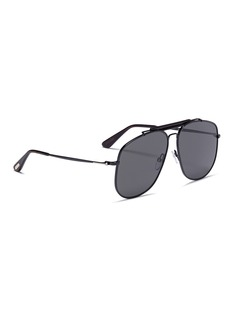 TOM FORD 'Connor' acetate brow bar metal aviator sunglasses
