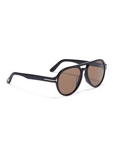 TOM FORD 'Rory' acetate aviator sunglasses