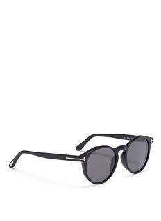 TOM FORD Lan板材圆框太阳眼镜