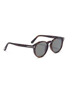 TOM FORD 'Lan' tortoiseshell acetate round sunglasses