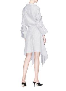 MONSE 条纹金属圆环仿包裹式府绸衬衫裙