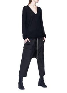 Rick Owens Stripe back virgin wool sweater