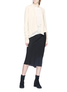 Rick Owens Cashmere open front cardigan
