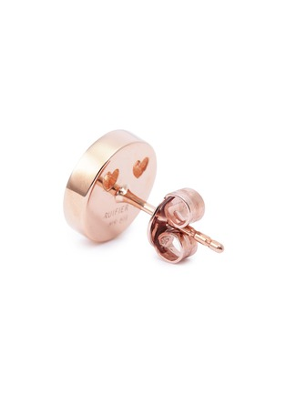 Detail View - Click To Enlarge - Ruifier - 'Smitten' 18k rose gold vermeil stud earrings