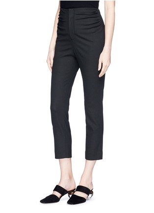 Front View - Click To Enlarge - Jacquemus - 'Le Corsaire' ruched cropped suiting pants