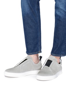 Pierre Hardy 'Slider' elastic band suede sneakers