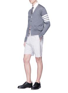Thom Browne Zip outseam stripe seersucker shorts