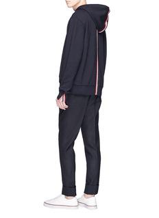 Thom Browne Stripe trim hoodie