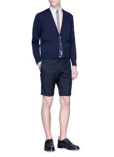 Thom Browne Half zip short sleeve Oxford shirt