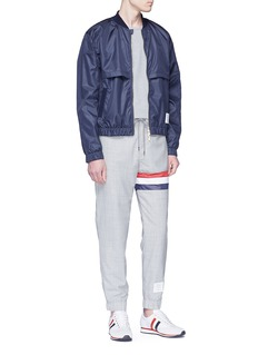 Thom Browne Stripe mesh panel wool jogging pants