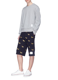 Thom Browne Hector embroidered sweat shorts